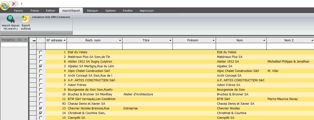 Screenshot raccordement Outlook