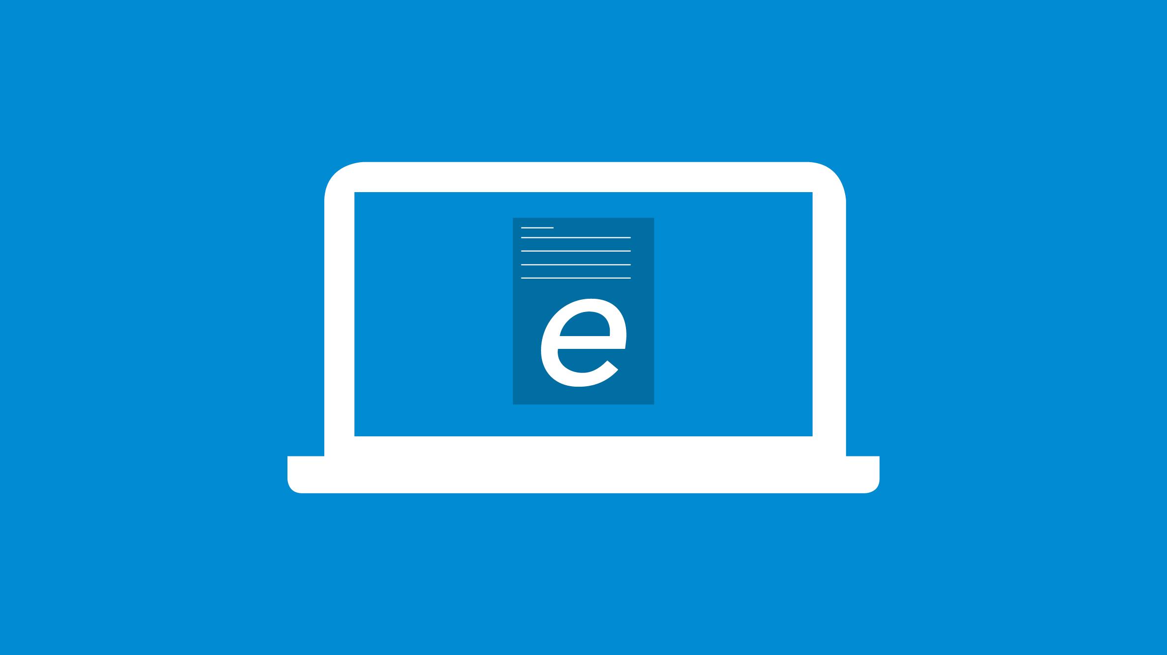 E-Rechnung auf dem Computer