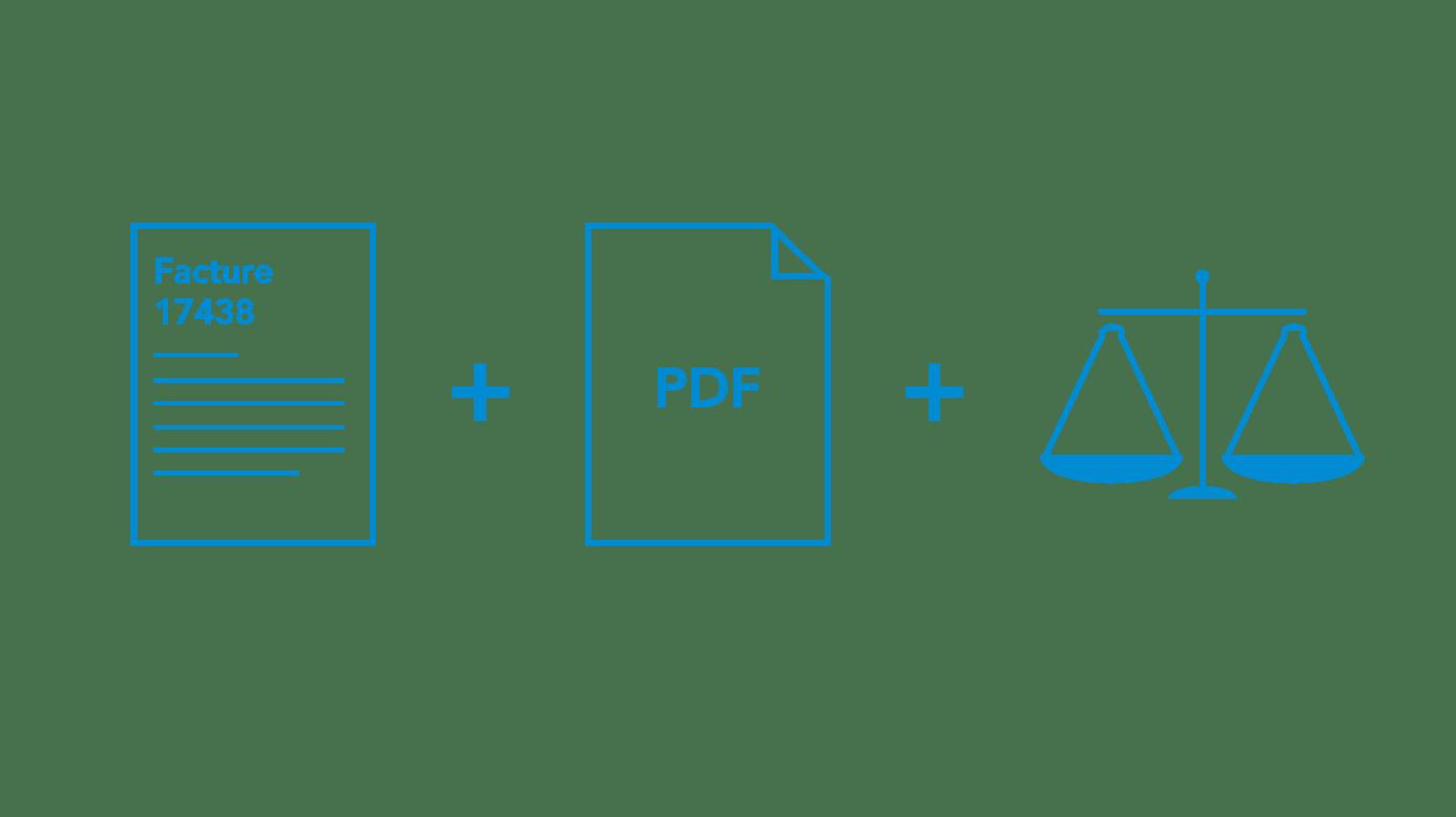 facture, document PDF et balance