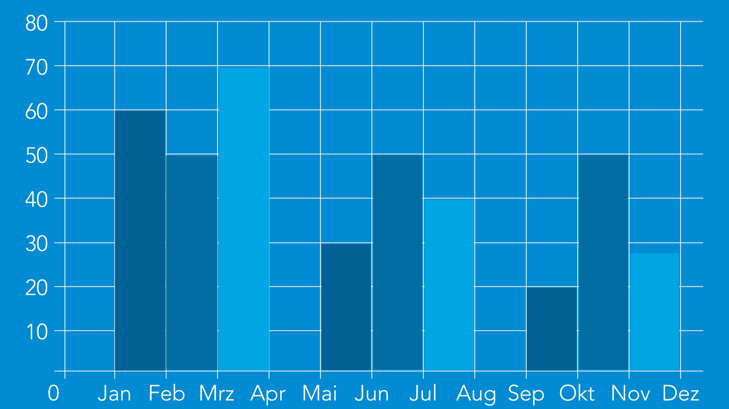 Balkendiagramm Jahresübersicht