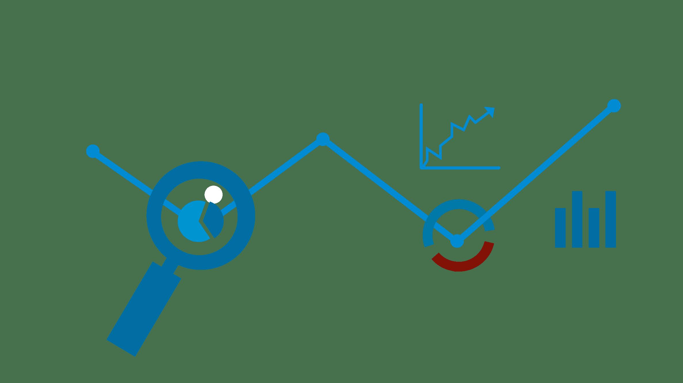 Darstellung Zahlen, Grafik und Lupe