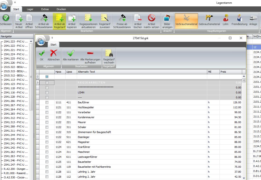 Screenshot Données de base