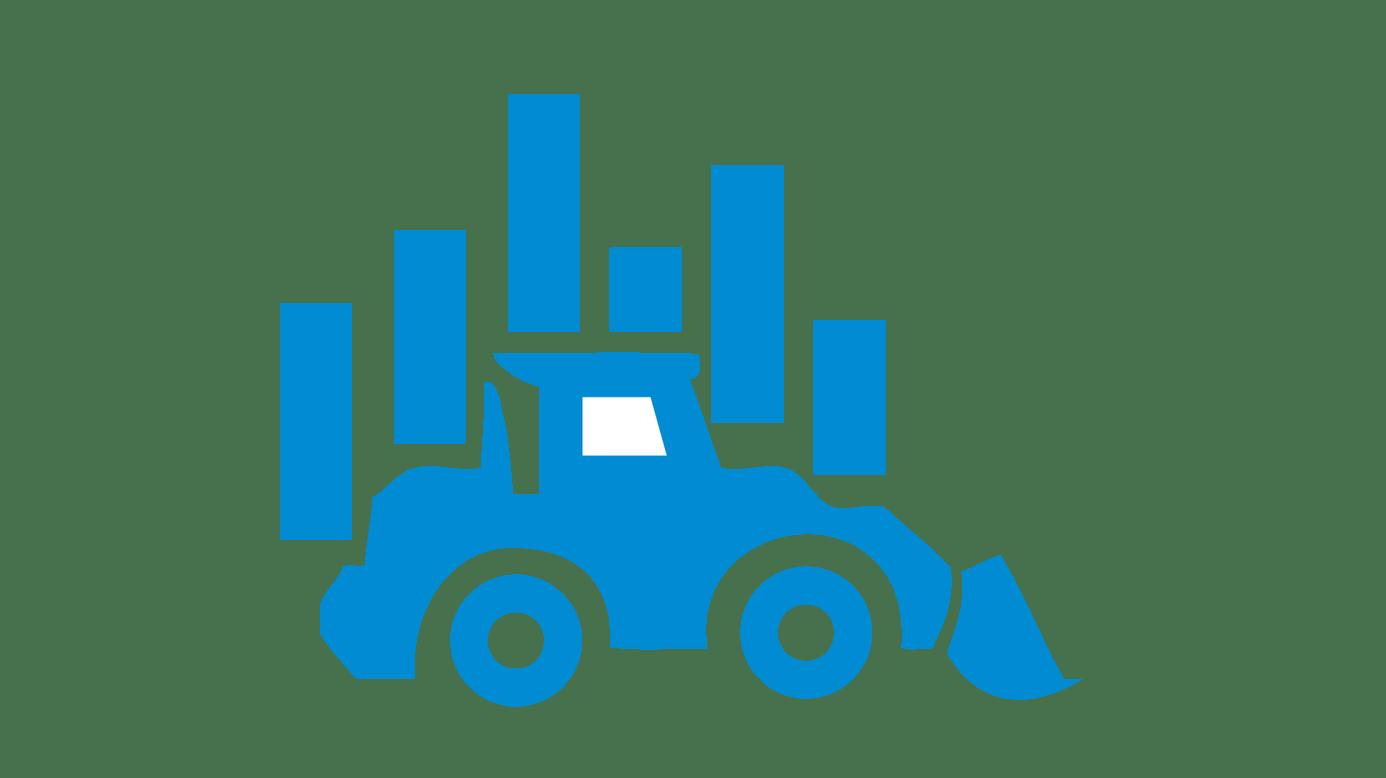 icône machine de construction avec graphique en arrière plan