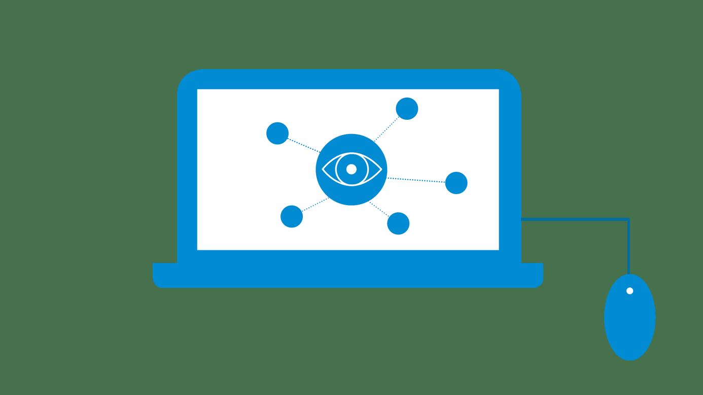 icône ordinateur portable avec réseau