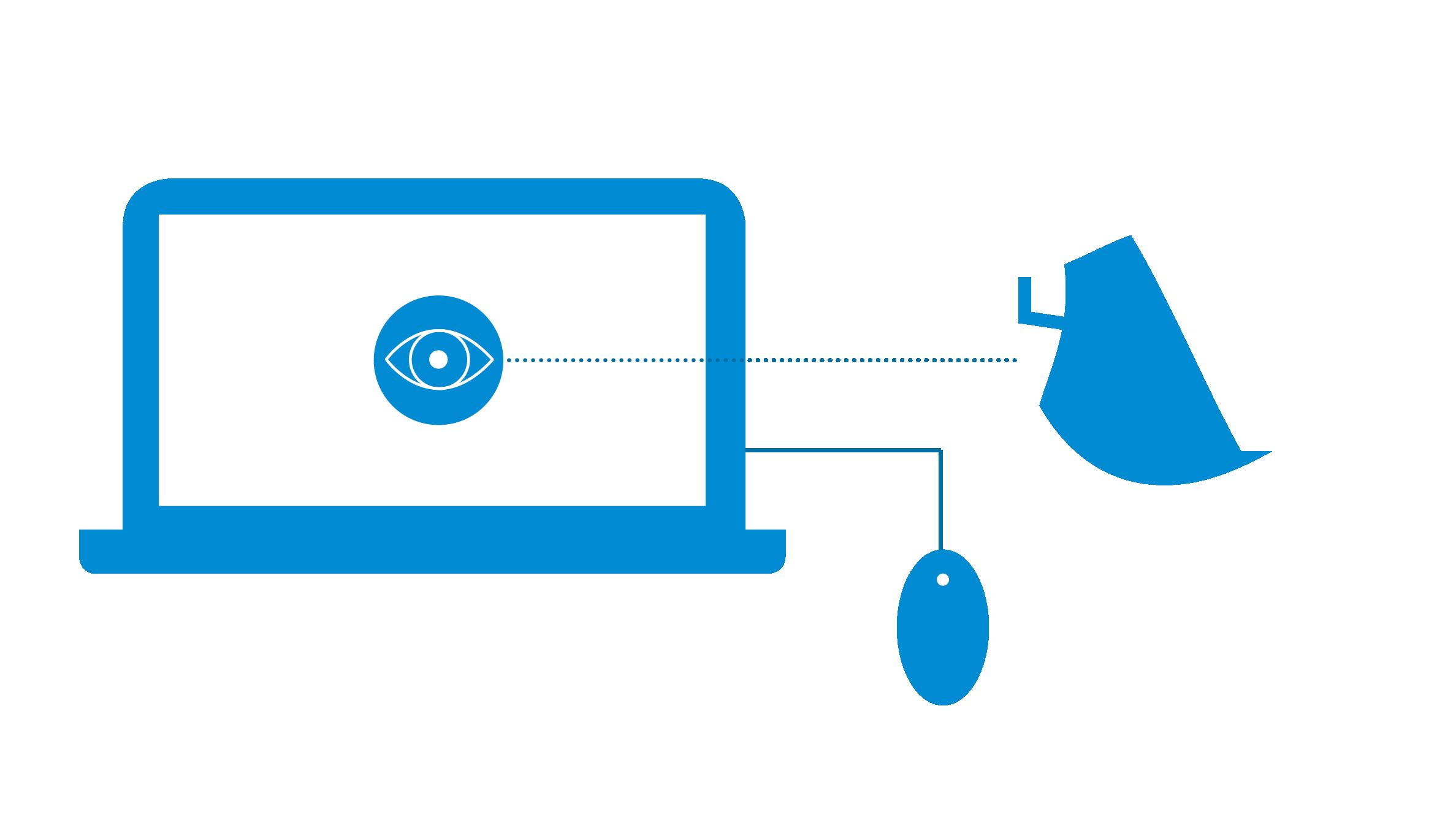 Icon Computer mit Anbaugerät