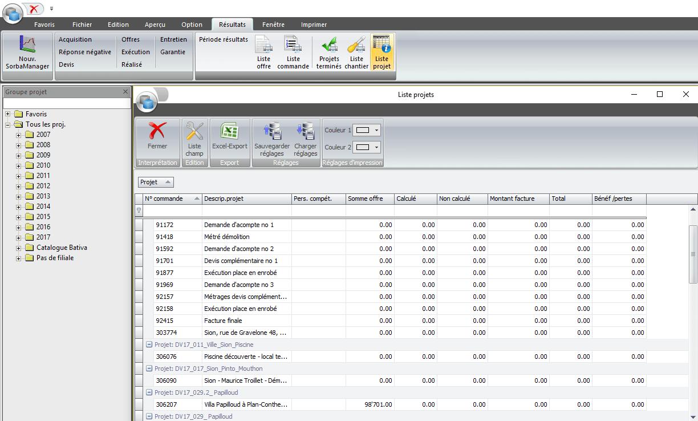 Screenshot logiciel évaluations individuelles