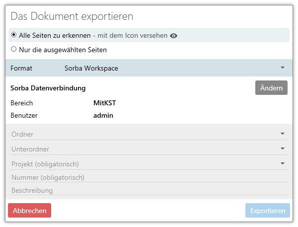 Screenshot Objekt exportieren
