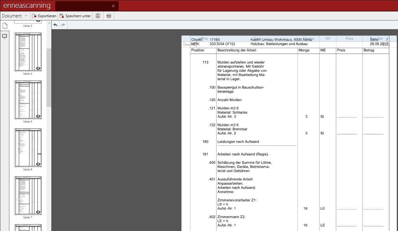 Screenshot Enneascanning