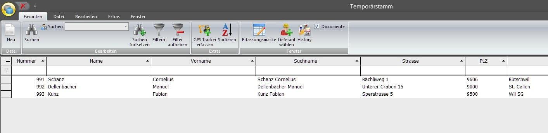 Screenshot base de données supplémentaire