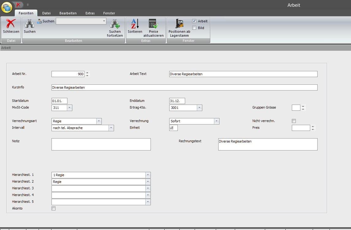 Screenshot Aufgabenplanung