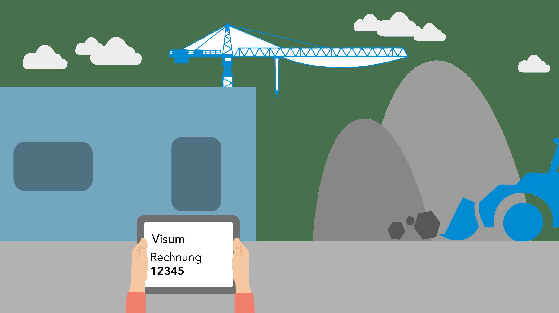 Baustelle mit Ipad
