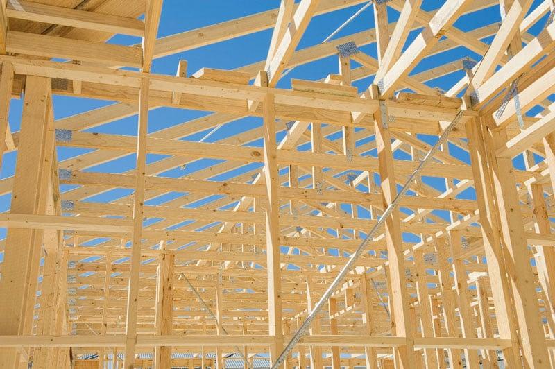 Struktur aus Holz