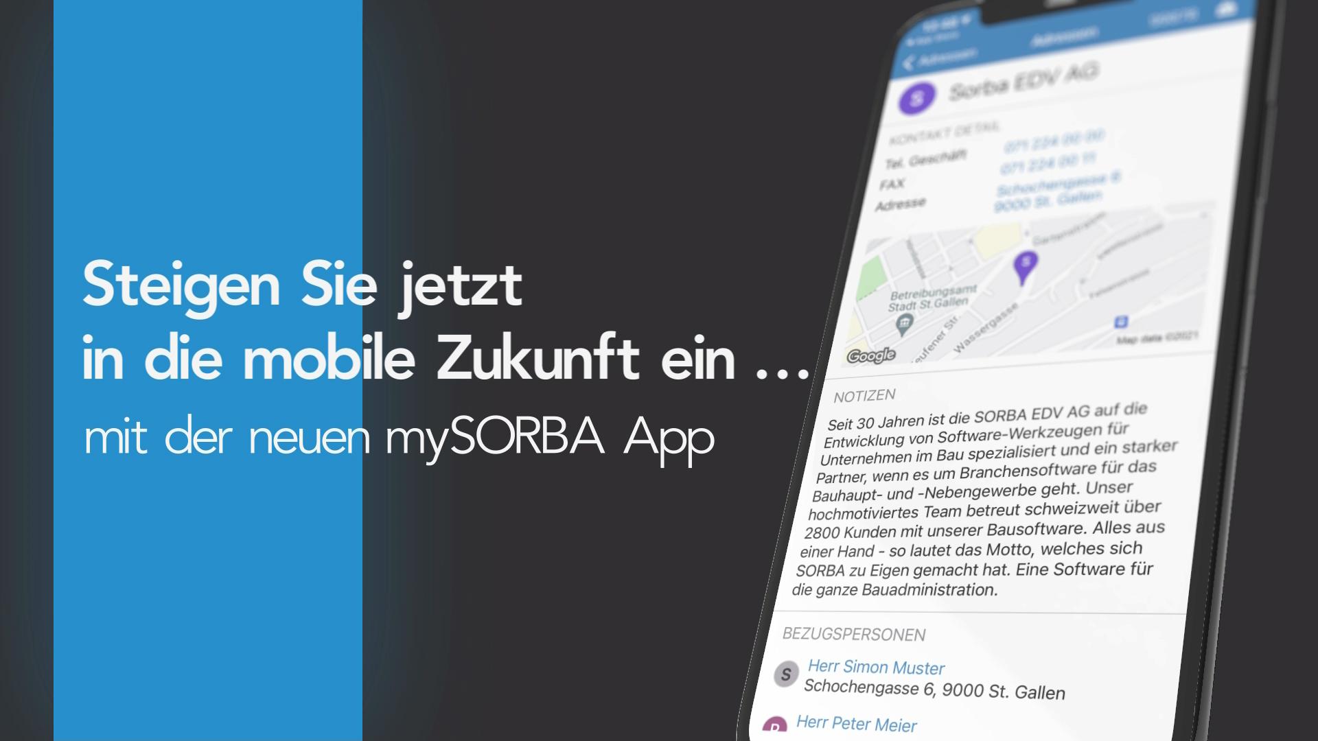 mySORBA App Teaservideo Thumbnail